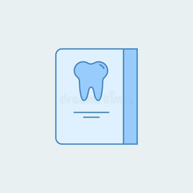 Dentystów recepcyjnych dni rozkładu 2 barwiąca kreskowa ikona Prosta barwiona element ilustracja Konturu symbolu projekt od stoma ilustracji