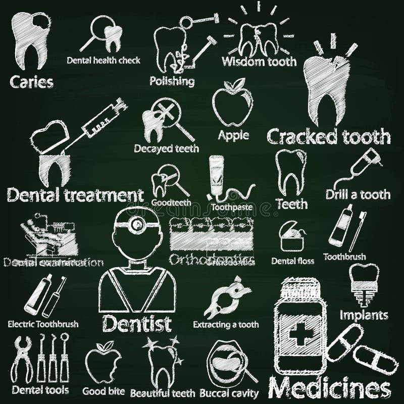 Dentysta kredą ilustracji