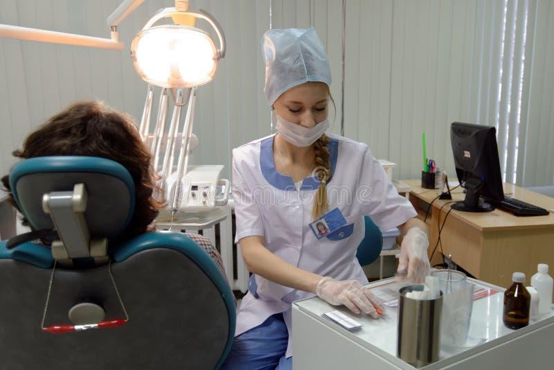Dentysta przy pracą fotografia royalty free