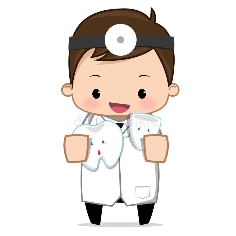 Dentysta stomatologiczna opieka ilustracji