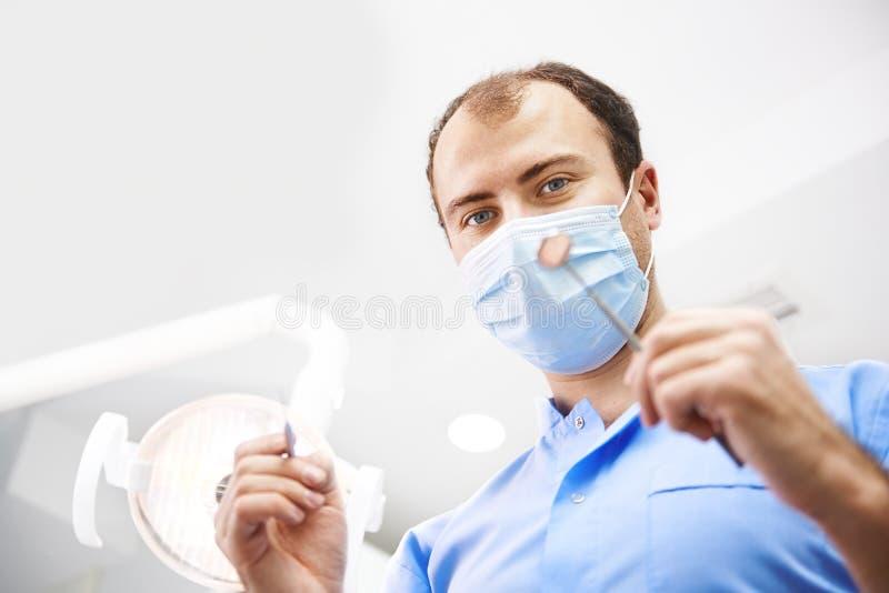 Dentysta w klinice zdjęcie stock