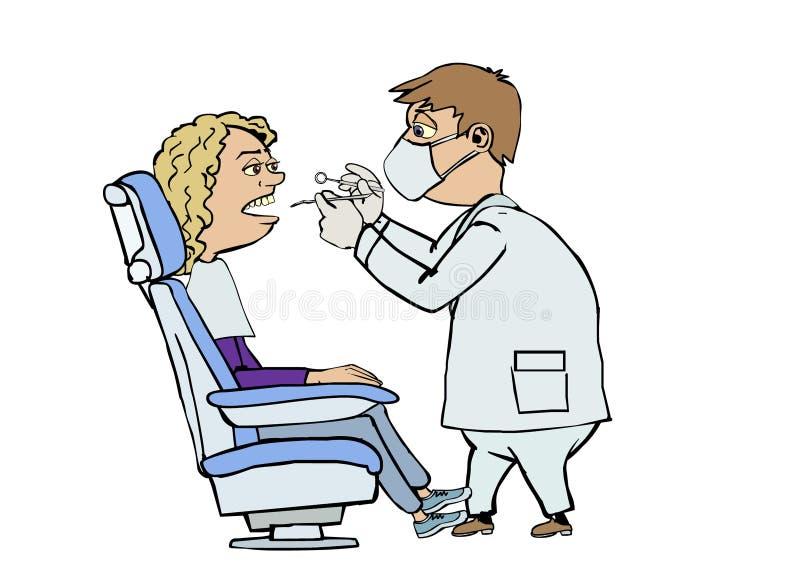 Dentysta wizyta royalty ilustracja