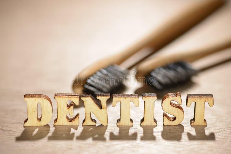 Dentysty drewniany słowo obraz royalty free