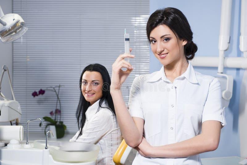 dentysty medycznego pacjenta strzykawka fotografia royalty free