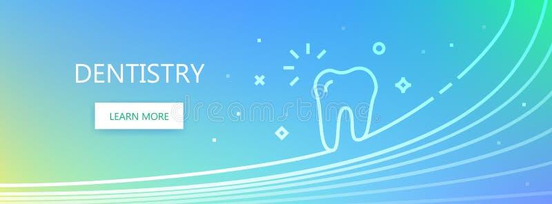 Dentystyka kolorowy sztandar zdjęcia royalty free
