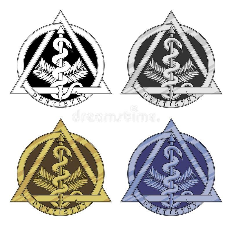 Dentystyka symbol - Cztery wersi royalty ilustracja