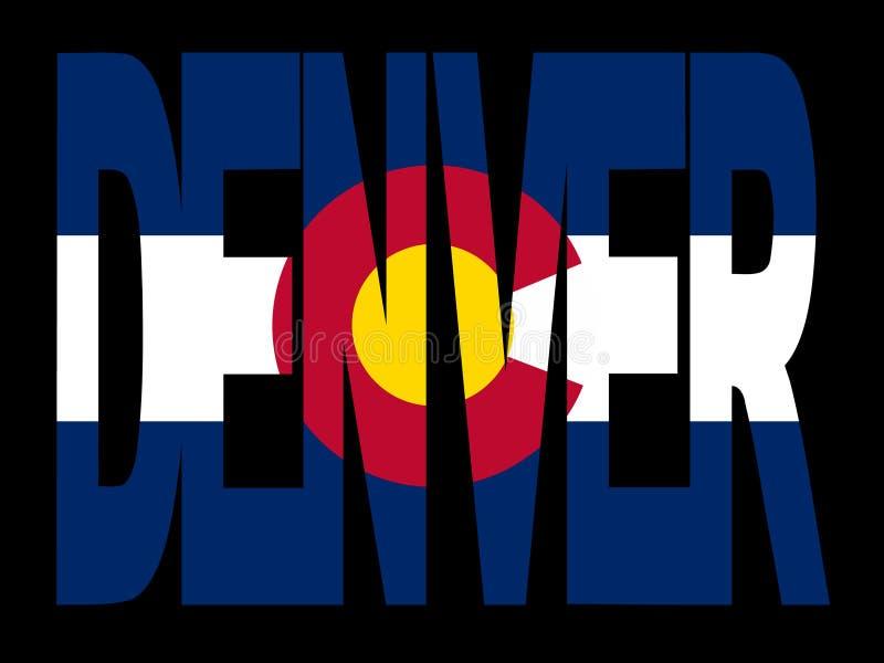 Denver avec l'indicateur du Colorado illustration stock