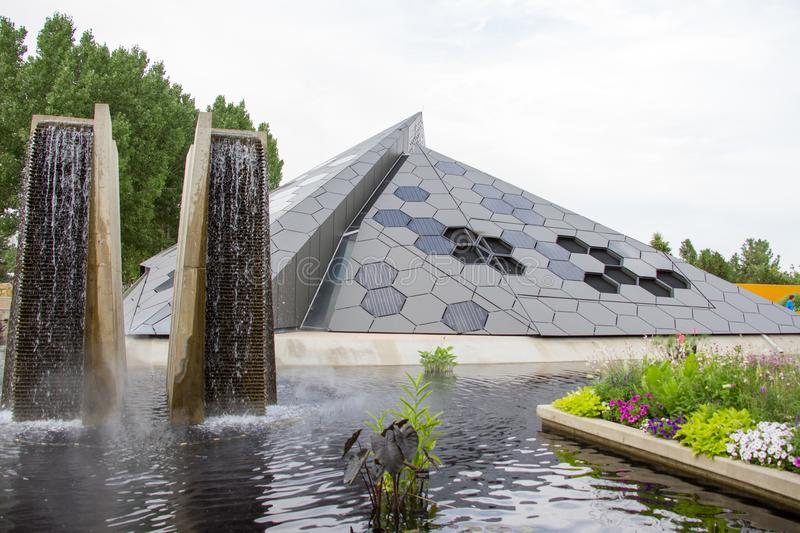 Denver Botanical Gardens Science Pyramid image stock