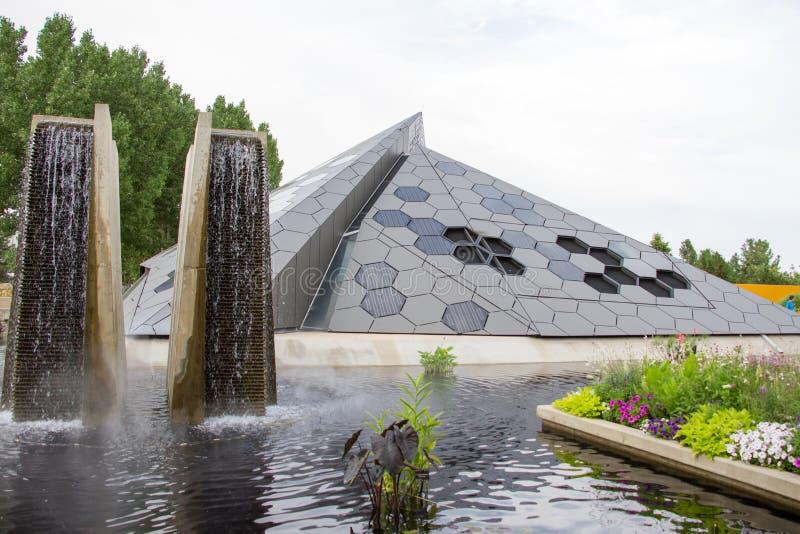 Denver Botanical Gardens Science Pyramid immagine stock