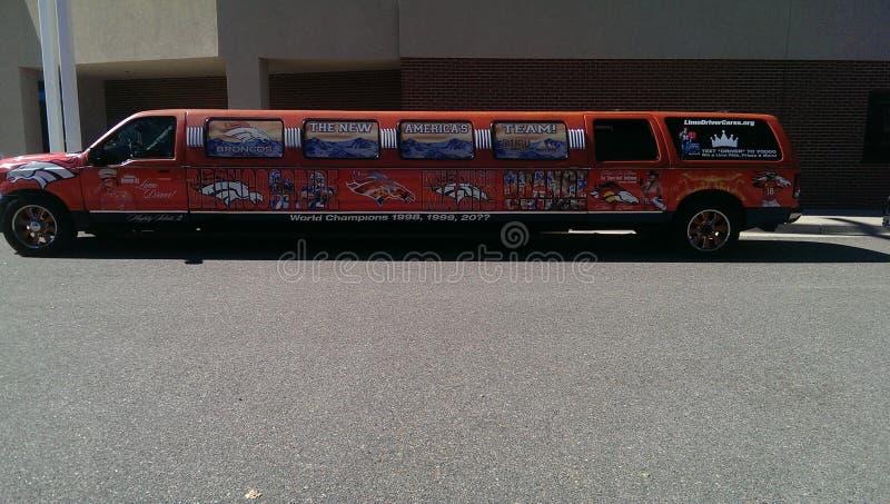 Denver Broncos limo arkivbilder