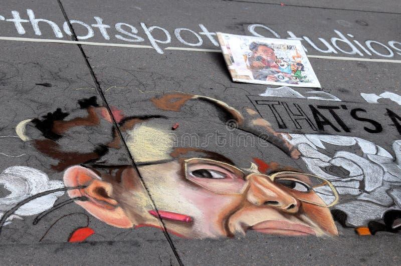 Denver Chalk Art Festival on Larimer Square. stock image