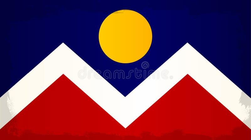 Denver City Flag libre illustration
