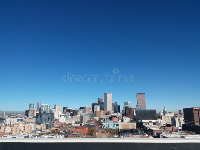 Denver City Skyline fotografía de archivo