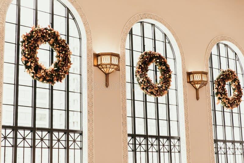 Denver, CO/EUA: Tiros editoriais do estação de caminhos de ferro da união durante a época de férias do Natal imagens de stock royalty free