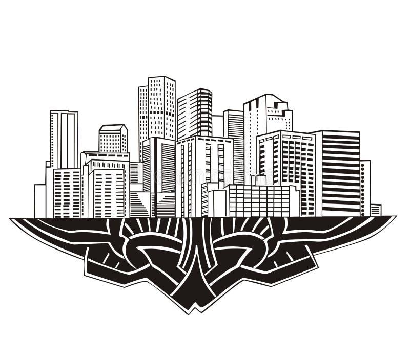Denver CO-horisont royaltyfri illustrationer