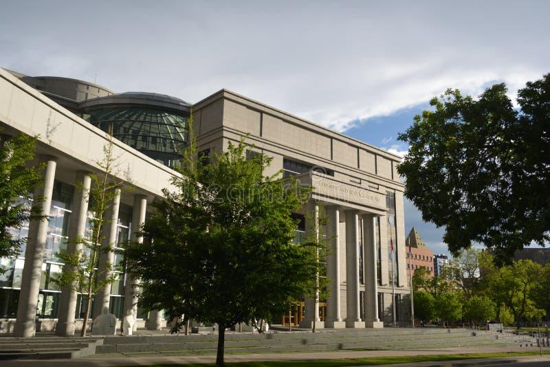 DENVER, CO, U.S.A. - 26 maggio 2019: Ralph L Carr Colorado Justice Center è domestico alla Corte suprema di Colorado ed alla cort fotografia stock libera da diritti