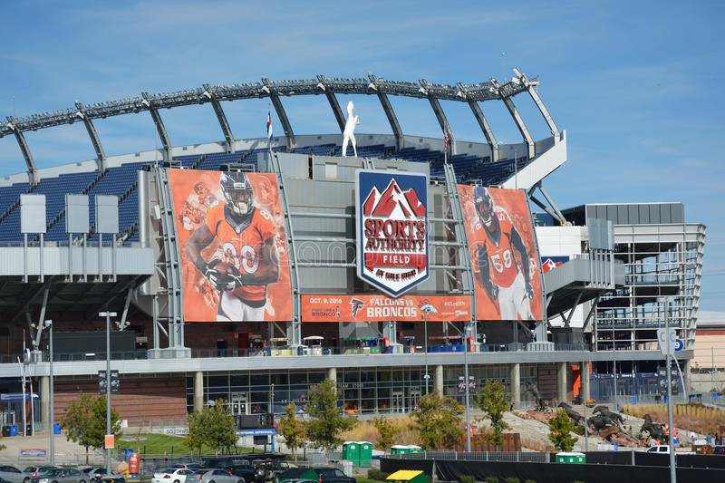 DENVER, CO, USA - October 8. 2016: Sports Authority Field at Mil stock image