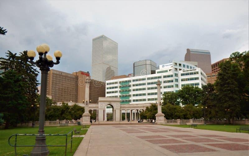 Denver Colorado Assortment von Türmen stockfotos