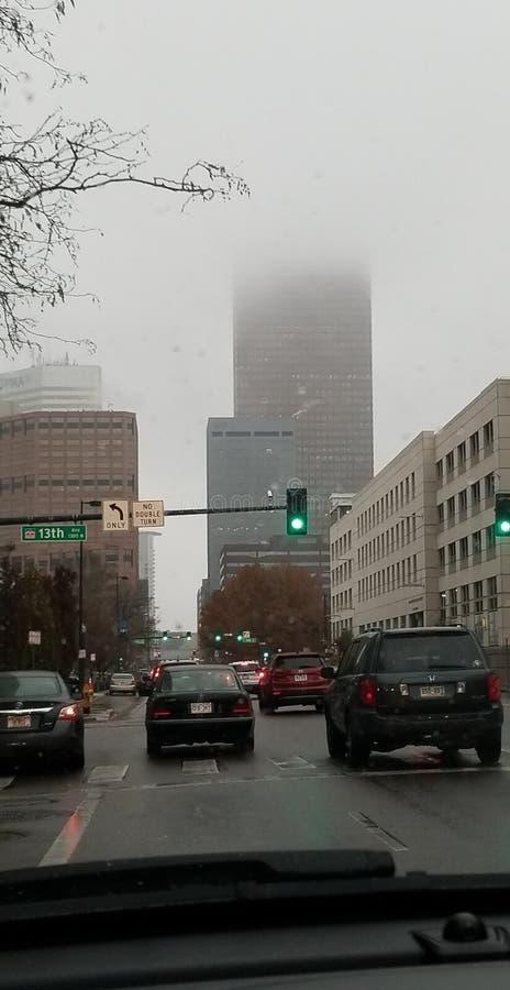 Denver Colorado brumeux photographie stock libre de droits