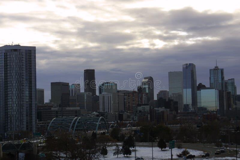 Denver Colorado Cityscape 2018 royaltyfri fotografi