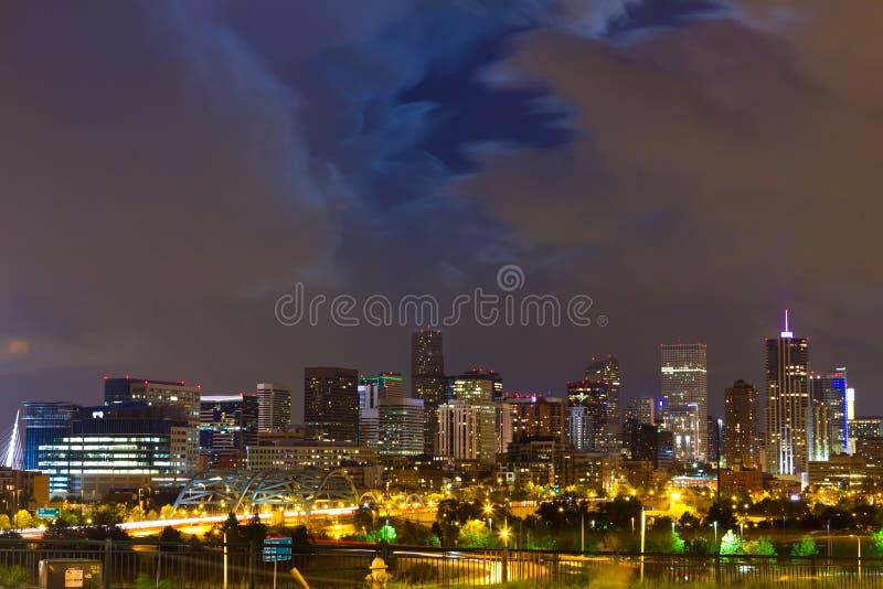 Denver Colorado Downtown Skyline imagenes de archivo