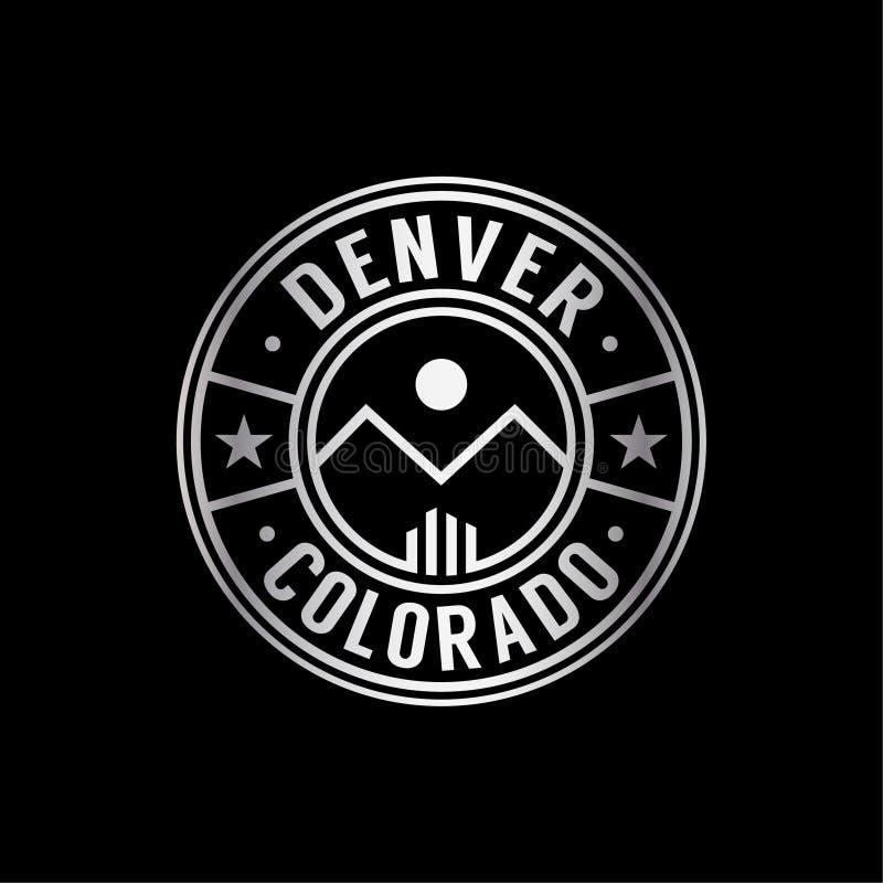Denver Colorado-embleem Vector en illustratie stock illustratie