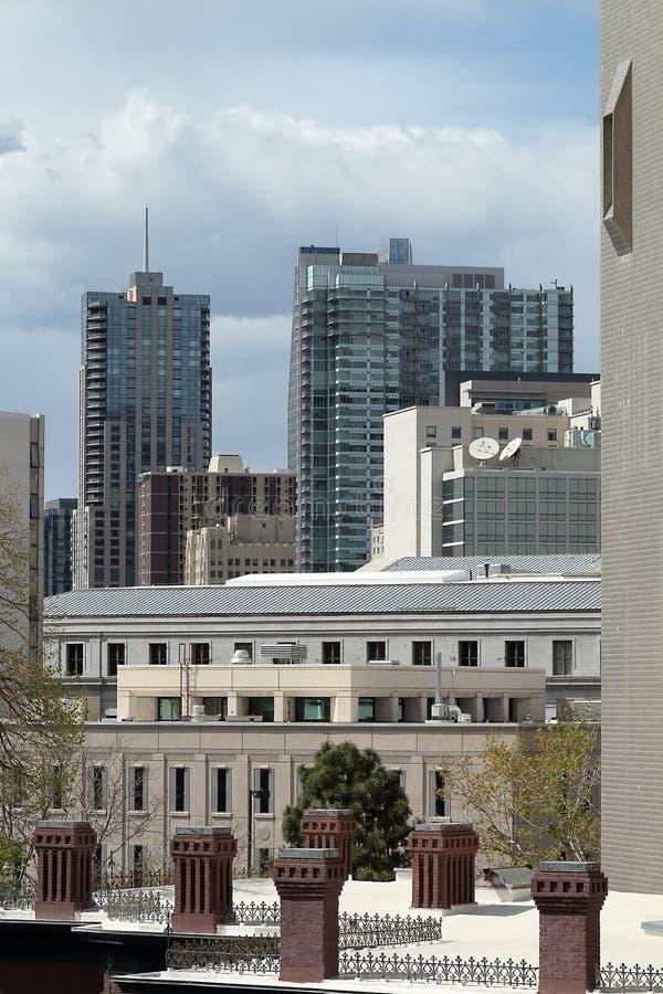 Denver, Colorado, EUA, arquitetura da cidade do centro fotografia de stock