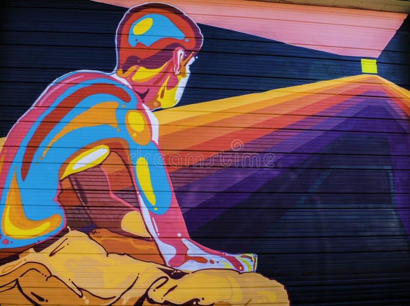 Denver, Colorado Grafitti stock photography