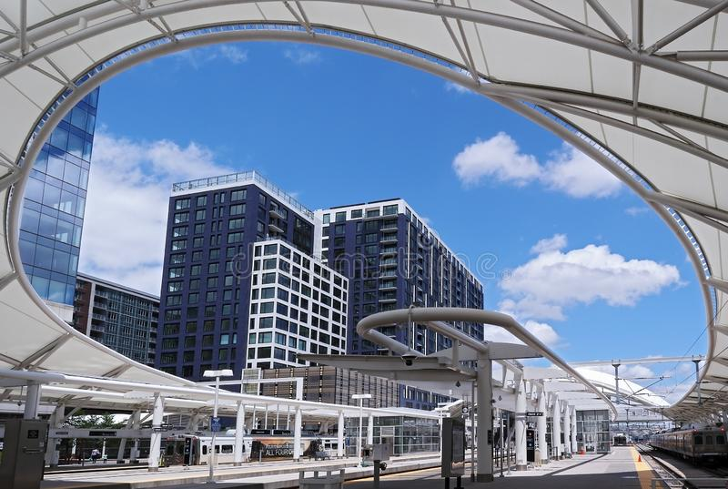Renovated Union Station in Downtown Denver, Colorado. stock photography