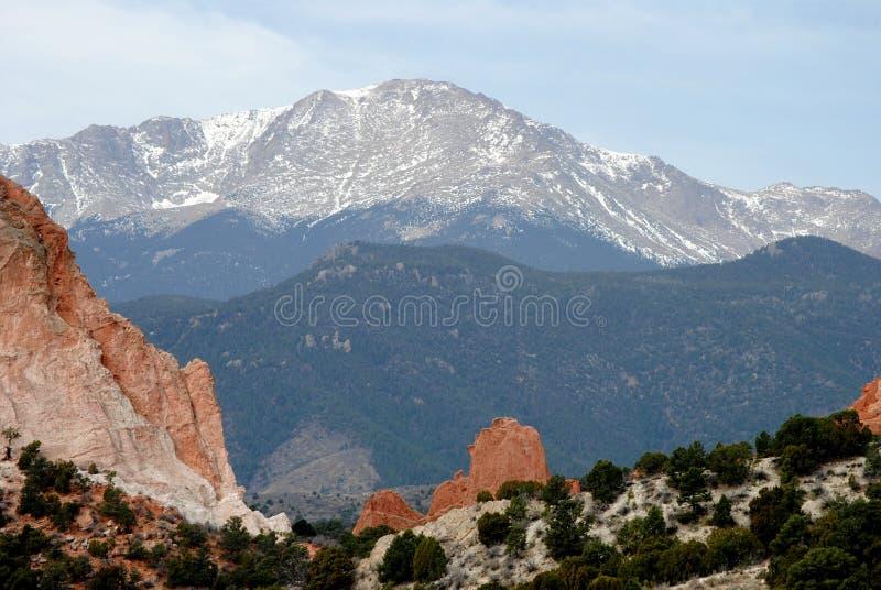 Denver Colorado Mountains Pikes Peak royalty-vrije stock afbeeldingen