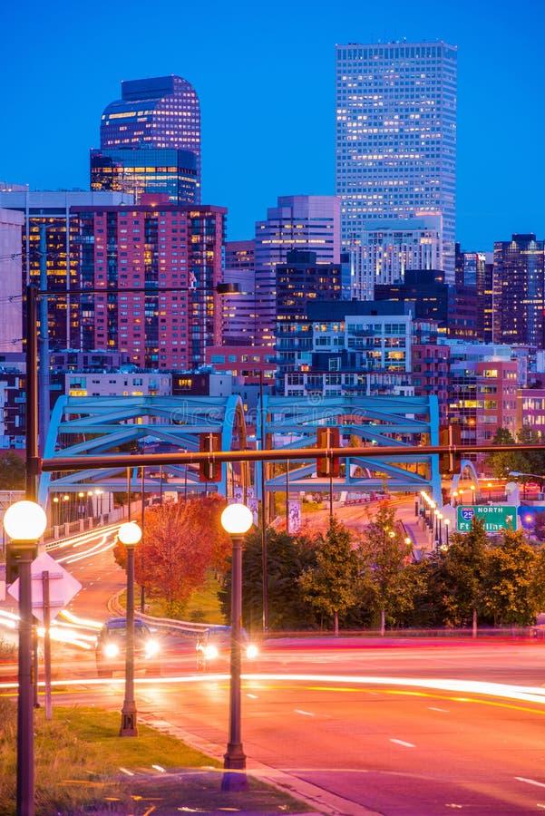 Denver Colorado Rush imagen de archivo libre de regalías