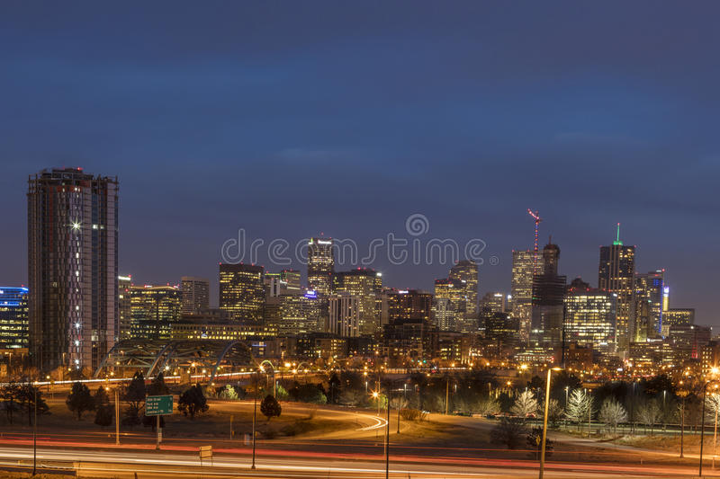 Denver Colorado Skyline royalty free stock photos