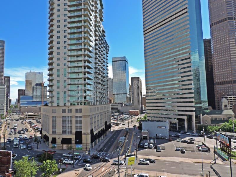 Denver Colorado Skyscrapers céntrico imagen de archivo