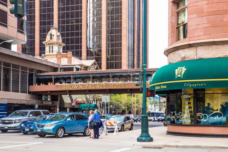 Denver Colorado Street Scene imagen de archivo libre de regalías