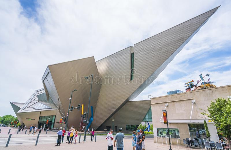 Denver ,colorado,usa. 06/11/17: denver art museum on sunny day. royalty free stock image