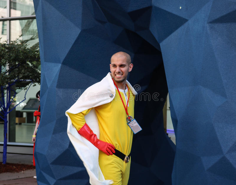 Denver, Colorado, USA - July 1, 2017: Male in costume for Denver Comic Con. Male in costume for Denver Comic Con posing for camera royalty free stock photo