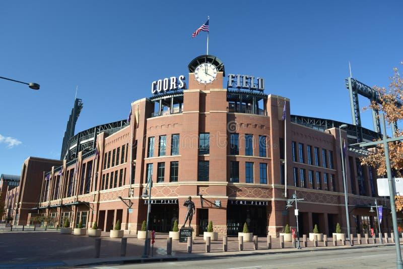 DENVER, COLORADO, USA - October 19, 2019: Coors Field is the home of the Colorado Rockies Major League Baseball team.  royalty free stock photos