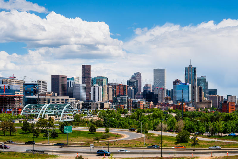 Denver da baixa, Colorado foto de stock