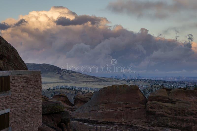 Denver, del rojo oscila el Amphitheatre imagen de archivo