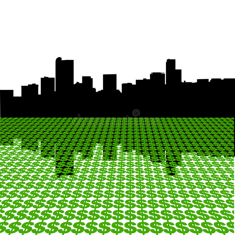 denver dolarów linia horyzontu ilustracja wektor