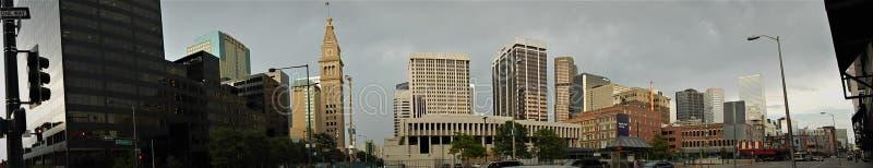 Denver Downtown Panorama stockfotos
