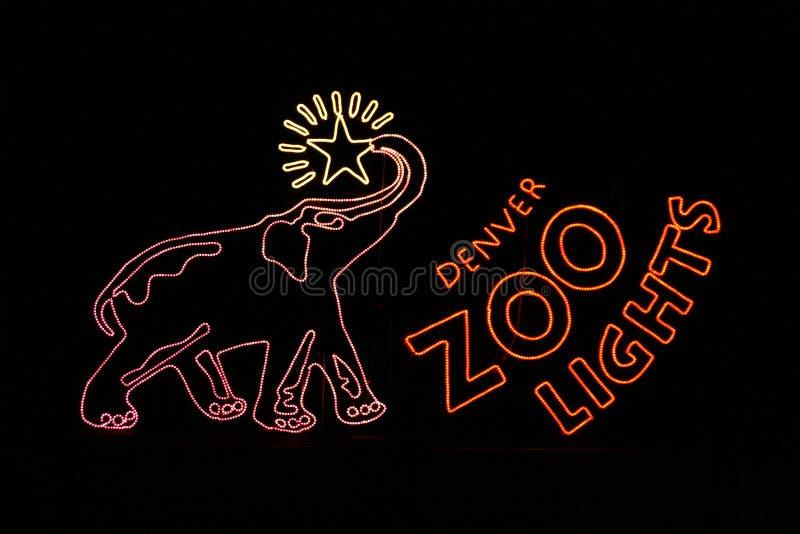 denver entry lights sign zoo στοκ φωτογραφία με δικαίωμα ελεύθερης χρήσης