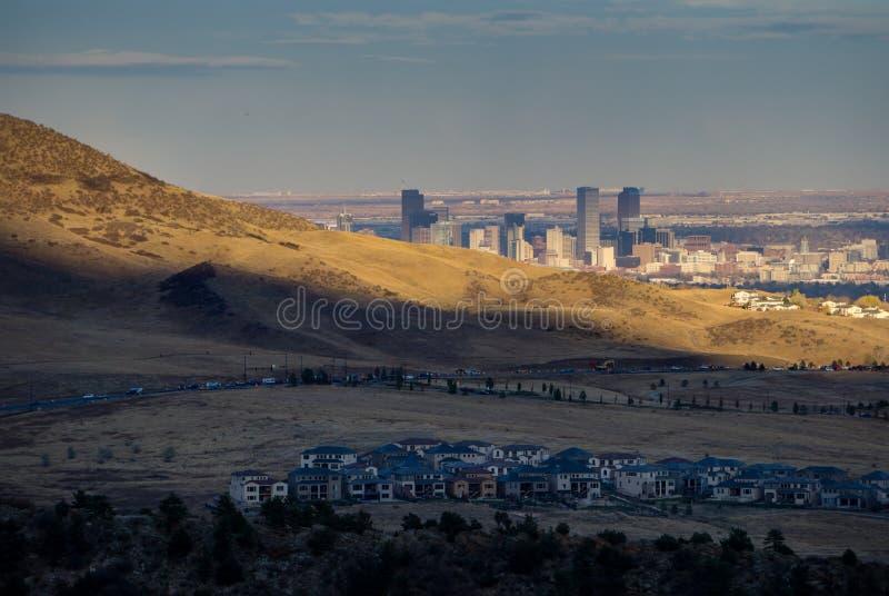 Denver From The Foothills lizenzfreies stockbild