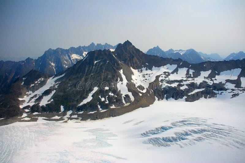 Denver Glacier, aerial view royalty free stock photos