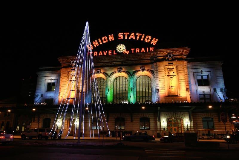 denver i stadens centrum stationsunion royaltyfria foton