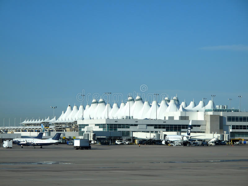 Denver International Airport. View of Denver International Main Terminal