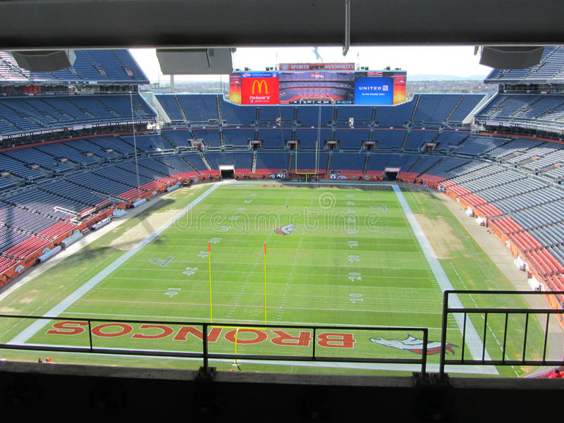 DENVER - JANUARY 9, 2014: Sports Authority Field at Mile High in Denver Colorado royalty free stock photos