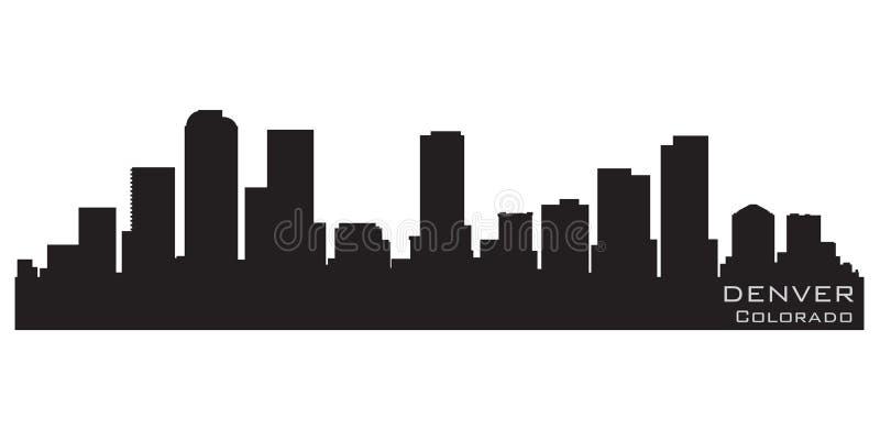 Denver, Kolorado linii horyzontu sylwetka Szczegółowa wektorowa sylwetka royalty ilustracja