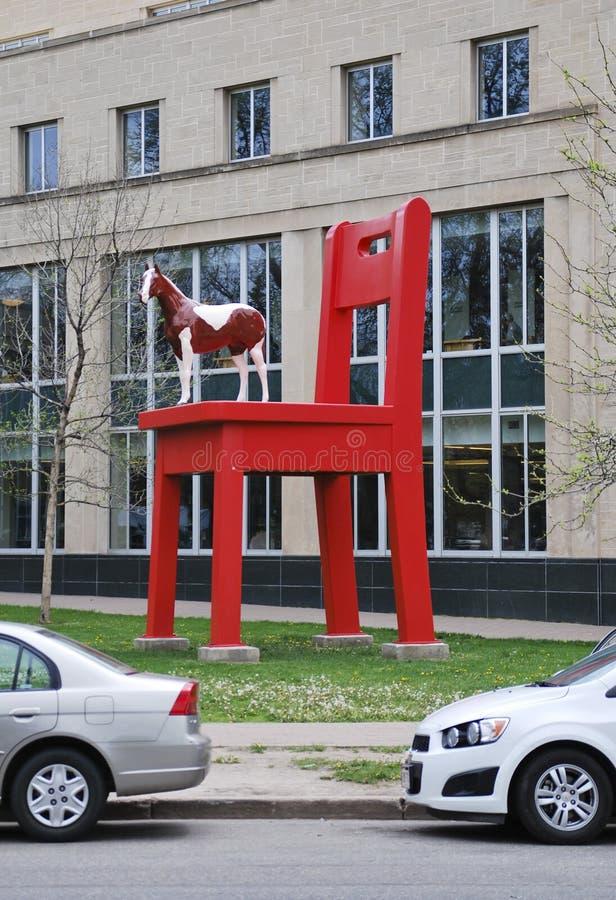 DENVER, KOLORADO, usa - MAJ 19, 2013: Roczniak artystą Daniel Lipski, rzeźba przy Denwerskim muzeum sztuki fotografia royalty free
