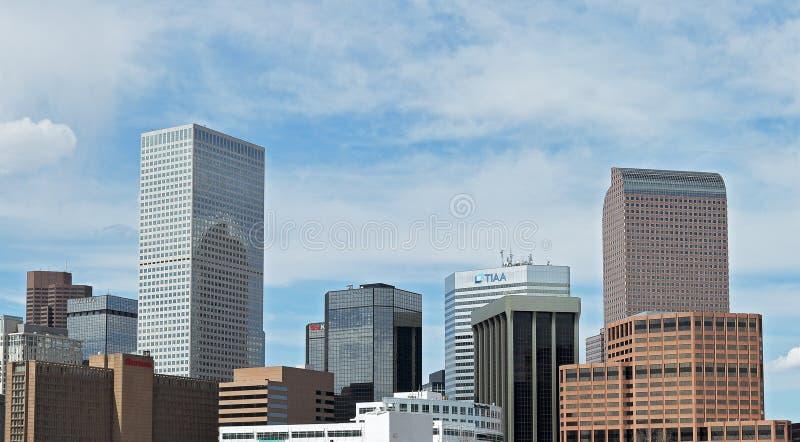 Denver, Kolorado, usa, w centrum pejza? miejski zdjęcia royalty free